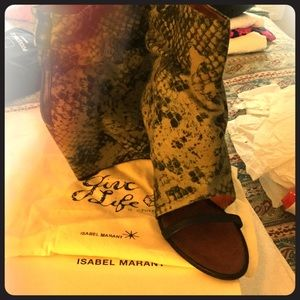 Isabel Marant Open Toe Python boots.